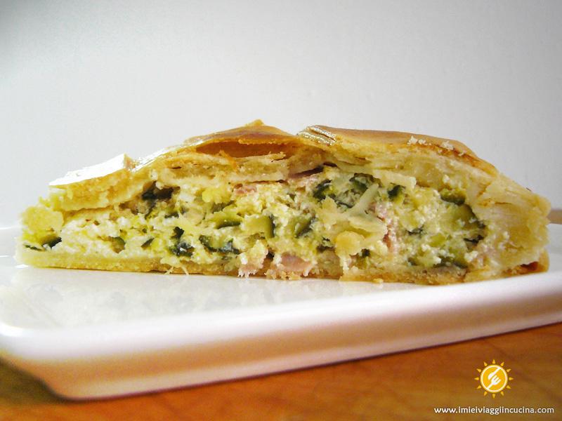 Torta Salata Cotto, Ricotta e Zucchine