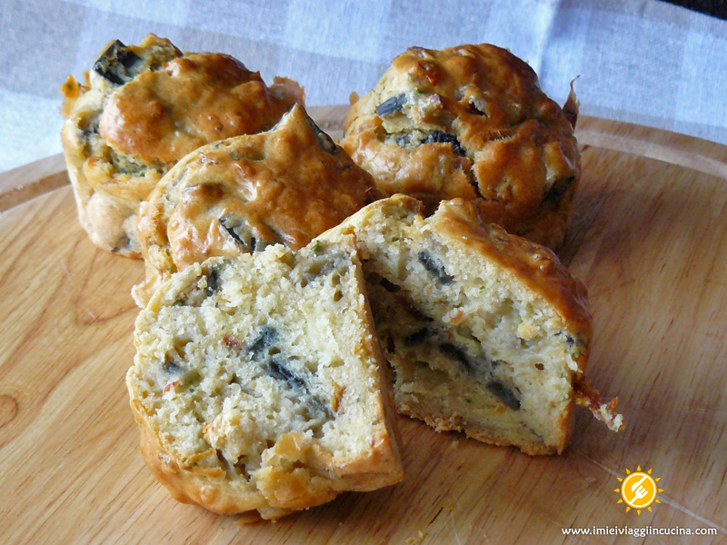 Muffin con Melanzane e Pomodori Secchi