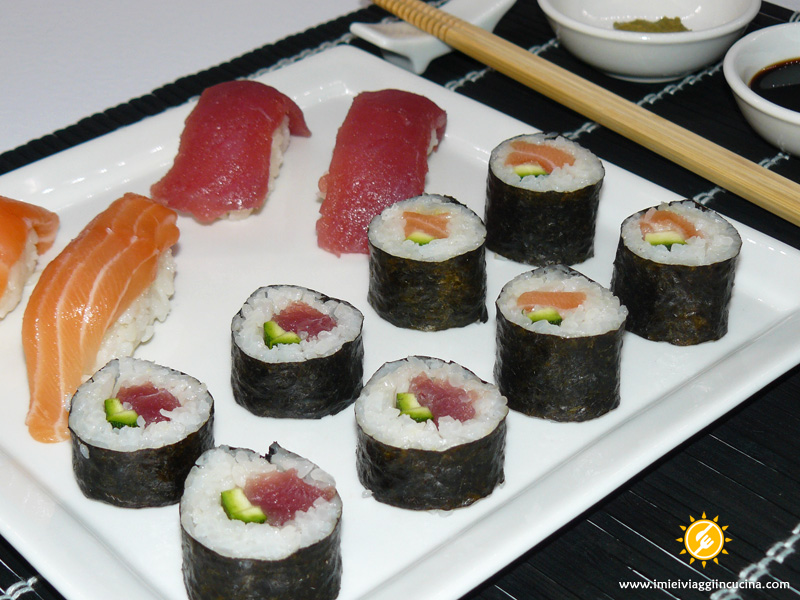 Sushi (Maki e Nighiri) di Tonno e Salmone