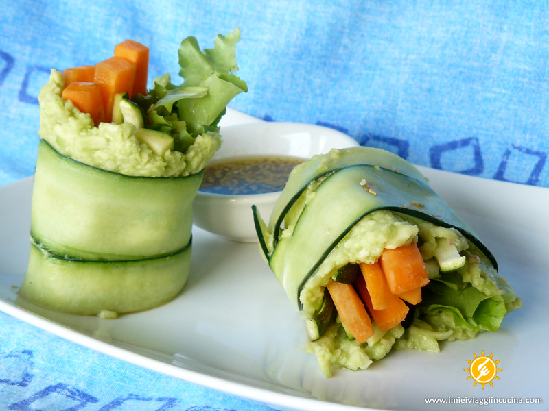 Involtini Crudisti di Cetriolo e Avocado