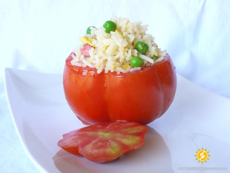 Pomodori Ripieni con Riso alla Cantonese