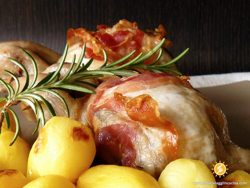 Quaglie al Forno con Pancetta Croccante