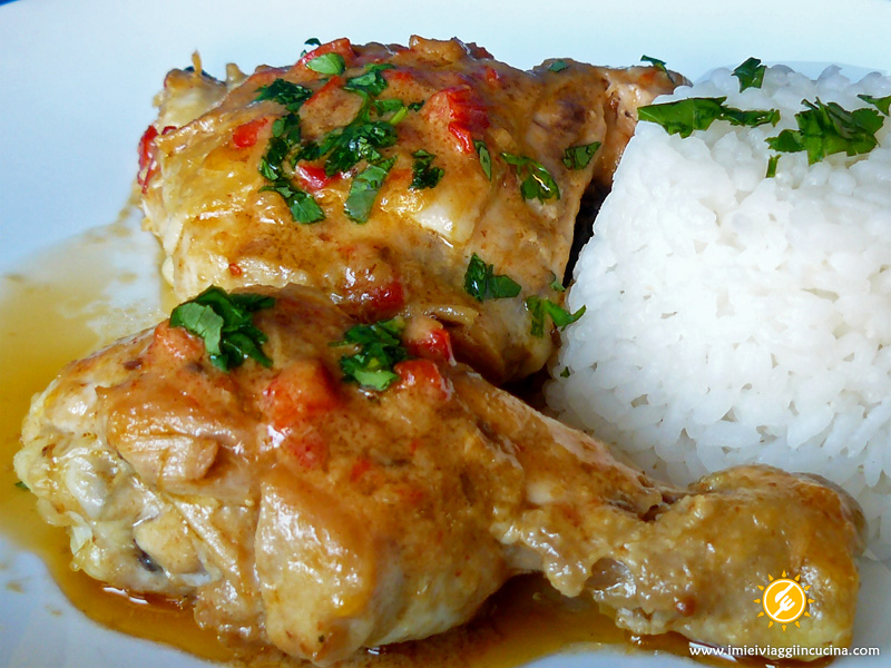 Pollo con salsa di Cocco alla Colombiana