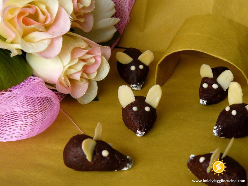 Topolini di Cioccolato Fondente e Mandorle