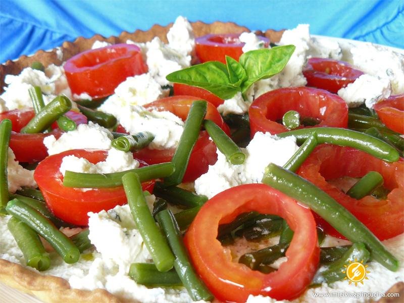 Crostata con Ricotta, Fagiolini e Pomodori