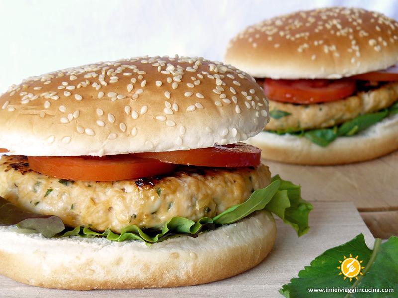 Hamburger di Pollo all'Erba Amara